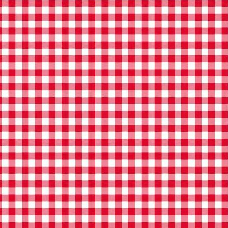 Disposable Red and White Gingham Paper Napkins (Pack of 50)