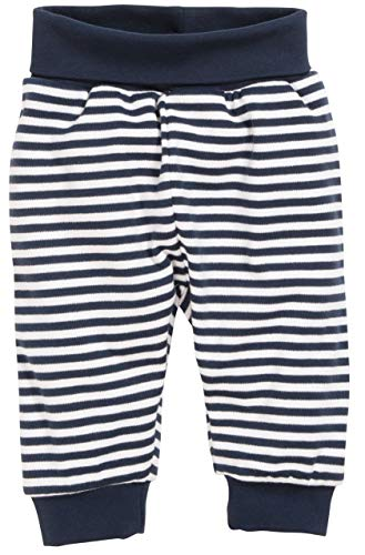 Schnizler Unisex Baby Jogginghose Babyhose Maritim mit Umschlagbund, Blau (Marine/Weiß 171), 50