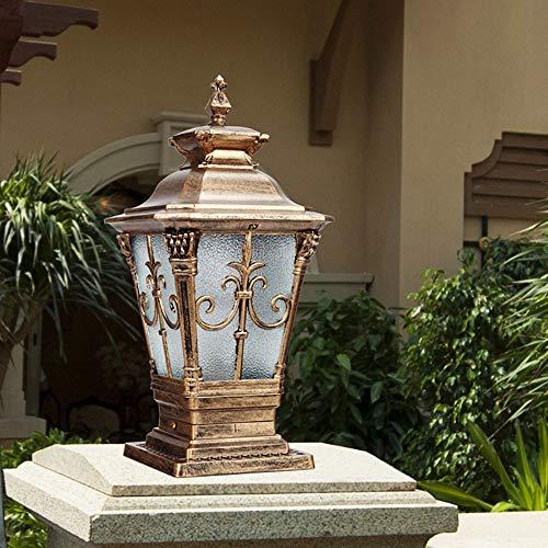Bronceador Pilar de la lámpara - Faro jardín del paisaje de la columna de la lámpara de aluminio de la puerta de la lámpara al aire libre impermeable Columna Patio Patio Villa LED después de las luces