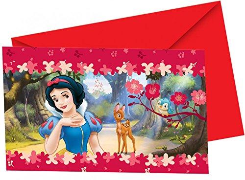 Procos Schneewitchen Einladungskarten mit Umschlag