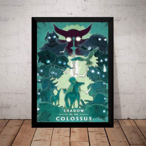 Quadro Shadow Of The Colossus Game Arte Poster Moldurado