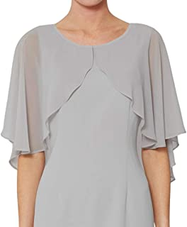 Sheer Chiffon Shrugs Wraps for Evening Bridal Wedding Party Soft Open Front Plus Size Cardigan Capes Cover Up