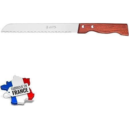 Les Colis Noirs LCN - Couteau a Pain Lame Demi Soie INOX Manche Palissandre La Fourmi - Ustensile Cuisine Tranche - 310