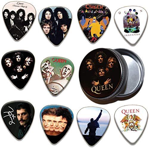 Queen 10 X Gitarren-Picks Plektrums Plektrons & Tin - 100 Range