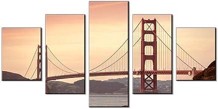 5 paneles, lienzo, escenografía, lienzo, lienzo mural para sala de estar, lienzo de pared, decoración del hogar, decoraciones-12x16/24/32inchWithout frame