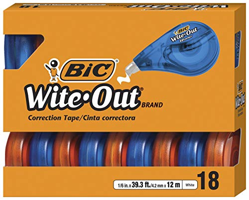 18 Pack Of BIC Wite-Out Brand EZ Correct Correction Tape For $4.62-$5.78 Shipped From Amazon After $18 Price Drop!
