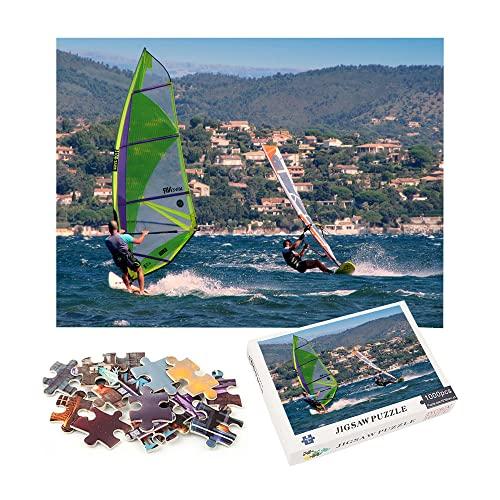 windsurf rompecabezas de 1000 piezas creativo adulto paisaje francés herramientas de descompresión para ocio y entretenimiento 70x50cm-Tourism City