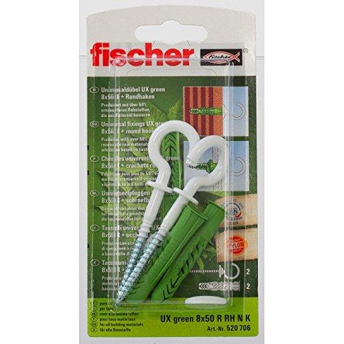 Fischer-Tacos Ux Green+hembrilla abierta blanca 8x50 RRH N K