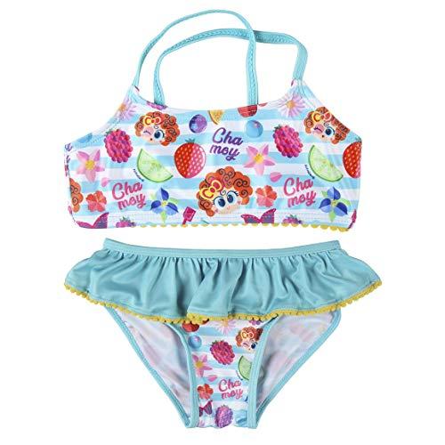 Cerdá Bikini Niña Distroller de 2 Piezas con Volante-4 Años Bañador, Multicolor, Pequeño para Niñas