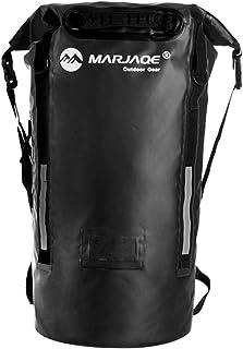 Shfmx Mochila de Bolsa Seca Impermeable 40L con Longitud Ajustable de la Correa de Hombro para Rafting/natación/Acampar/al Aire Libre/Aventura,Black