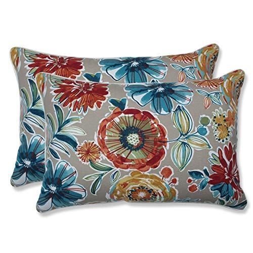 Pillow Perfect Outdoor/Indoor Colsen Sonoma Oversized Lumbar Pillows, 24.5' x 16.5', Tan, 2 Pack