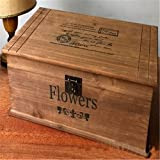 Ramingt Caja De Almacenamiento De Madera Casa De Campo A Mano Hecho A Mano Sólido Vintage Caja De Madera