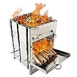 Barbecue Au Charbon De Bois Pliable BBQ Grill Picnic Grill Portable Barbecue Au Charbon De Bois en Acier Inoxydable Portable en Plein Air pour Les Pique-niques, Barbecue Camping