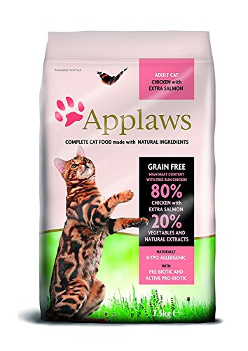 Applaws Katze Trockenfutter Adult, Huhn mit Extra Lachs, 1er Pack (1 x 7.5 kg)