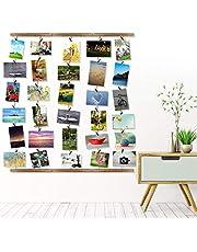 met Fototouw Opknoping DIY Ambachtelijke Muur Foto Frame, Muur Fotolijst, Netjes voor Opknoping Foto 'S voor Woonkamer Foto Achtergrond Frame Set Display Foto' S