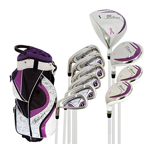 Founders Club Left Handed Believe Ladies Complete Golf Club Set Purple Left Handed (Standard)