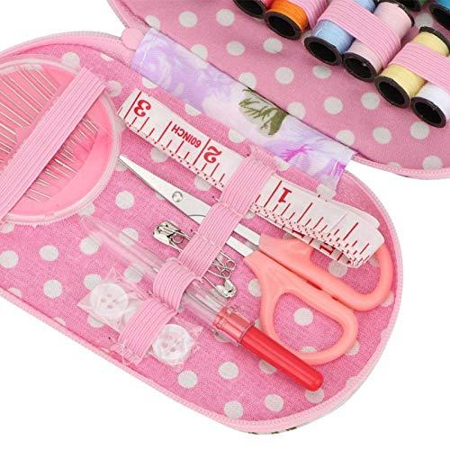 Tenpac Kits de Costura, Kit de Costura para niñas, Kit de Costura, Kit de Costura de Viaje portátil, Kit de Costura pequeño para Viajes a casa(Purple Rose)