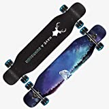 HNaGRDMMP Long Skateboard Complete Double Kick Trick Skateboards Cruiser Kids Beginners Longboard with Premium Maple Deck Adult Boys Girls Skateboard,107cmx25cm (Color : B)