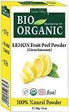 Polvo orgánico puro certificado de la cáscara de la fruta del limón con...