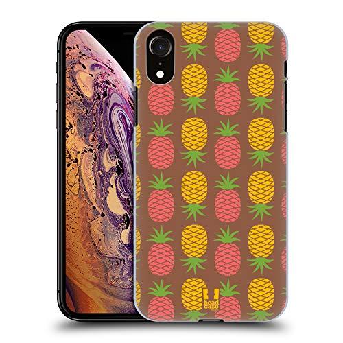 Head Case Designs Cacao E Ananas Pattern Ananas Cover Dura per Parte Posteriore Compatibile con Apple iPhone XR