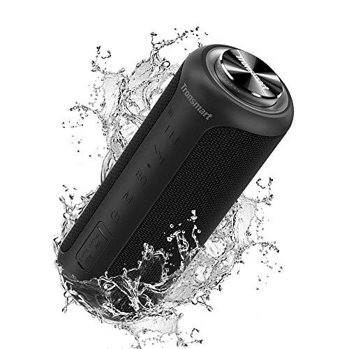 Tronsmart T6Plus Version Améliorée Haut-Parleur Bluetooth Puissante 40W,Enceinte Portable d'extérieur avec 6600mAh Powerbank, étanche IPX6, WirelessStéréo & 360°Basse,Autonomie 15H,Speaker Bluetooth