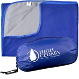 High Cedars Living XL Waterproof Blanket with Warm Fleece, Best Outdoor Blanket for Cold Weather, Stadium, Camping, Sports, Picnics, Festivals, Beach, Travel, Car, Throw, Machine Washable, 78 x 55 In.