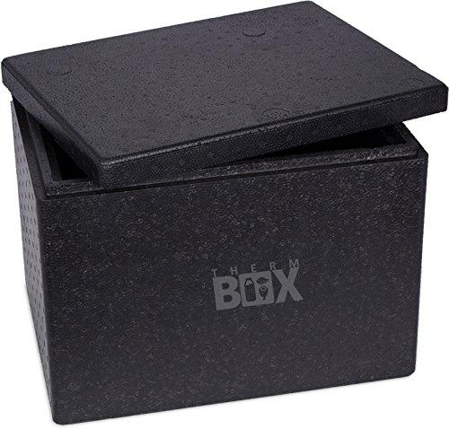 Profibox L 40,0x30,0x30,0cm, pared: 3,0cm, V=19,58 Litros, Caja de aislamiento reutilizable Caja de refrigeración Thermobox Caja para mantener el calor Caja de pizza - fuerte y robusta