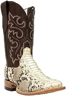 Men's Square Toe Python Snakeskin Boot Q818