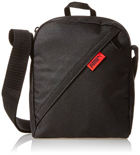 PUMA City Portable II Tablet Tasche – Schwarz (Black/Team Regal Red), Einheitsgröße