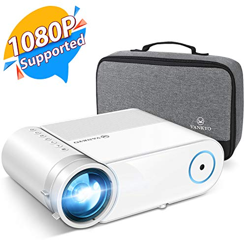 "VANKYO Leisure 460 Mini 4200LUX Projector, 1080P and 200"" Display Supported, Portable Projector Compatible w/ TV Stick, PS4, HDMI, Laptop, iPhone, Android, Ideal for Home Theater/Outdoor"