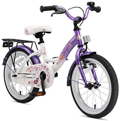 BIKESTAR Vélo Enfant pour Garcons et Filles de 4-5 Ans | Bicyclette Enfant 16 Pouces Classique avec Freins | Lilas & Blanc