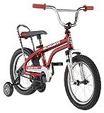 Schwinn Krate EVO Bicicleta clásica para niños, Ruedas de 16 Pulgadas, niños y niñas de 3 a 5 años, Ruedas de Entrenamiento extraíbles, Frenos de Posavasos, Color Rojo Manzana