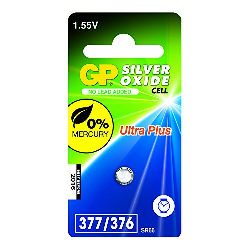 GP Batteries 040UP377C1 Pile de montre 377 SR265SW/1,55 V