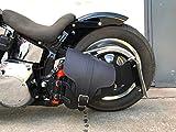 HADES BLACK Schwingentasche Harley Davidson Softail Schwinge HD schwarz Getränkehalter Orletanos...