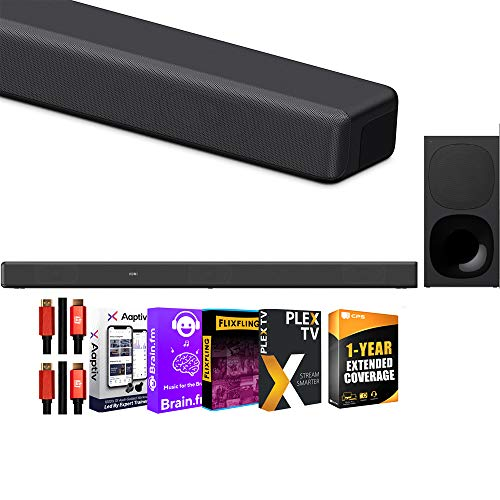 Sony HT-G700 3.1ch Soundbar with Dolby Atmos/DTS:X Cinematic Surround Sound & Bluetooth Wireless Technology Home Theater Bundle w/Extended 1yr Coverage + Deco Gear 2X HDMI Cables + Streaming Kit