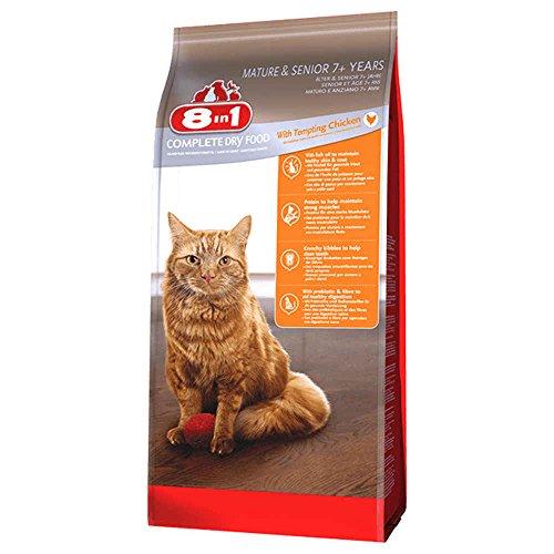 8in1 Katze Trockenfutter Senior Huhn Größe 2kg