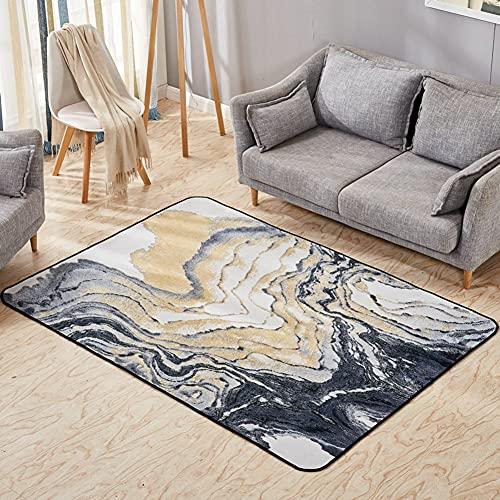 PIVFEDQX Alfombra Sala De Estar Alfombra Abstracta Moderna Jane Europe Dormitorio Alfombra De Cama Rectangular Sofa-Carpet-D 80X160Cm (31X63Inch)