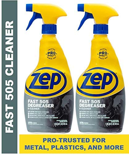 Zep Fast 505 Cleaner and Degreaser ZU50532 (Pack of 2) - Great for grills, plastics, metal, and more!