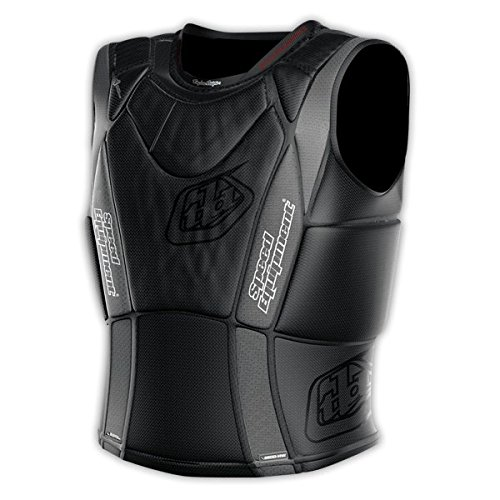 Troy Lee Designs 3900 Ultra Protective Heavyweight Vest Solid Black, XL (Small, Black)