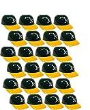 BD&A MLB Mini Batting Helmet Ice Cream Sundae/Snack Bowls, A's - 24 Pack