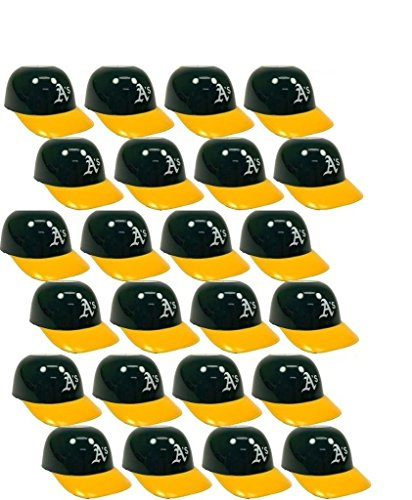 BD&A MLB Mini Batting Helmet Ice Cream Sundae/Snack Bowls, A's - 24 Pack