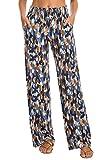 Urban CoCo Women's Boho Palazzo Pants Wide Leg Lounge Pants (XL, 9)