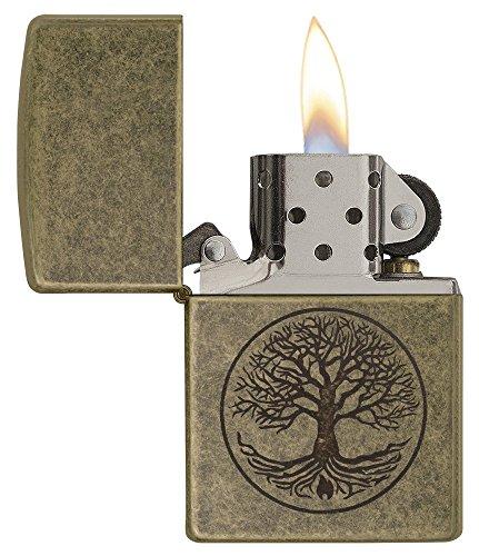 Zippo Feuerzeug Motiv: Baum des Lebens – antikesMessing - 3