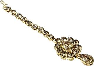 طقم مجوهرات هندي من فيشال-فاتيكا لحفلات الزفاف من بوليوود مانغ تيكا للنساء مجوهرات الرأس والشعر