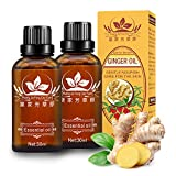 2 Pack Wholesome Ginger Massage Oil, 100% Pure Natural Organic Ginger Essential Oil for SPA Massage,...