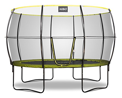 Rebo Oval Base Jump 2 Trampoline With Halo II Enclosure - 8x11FT