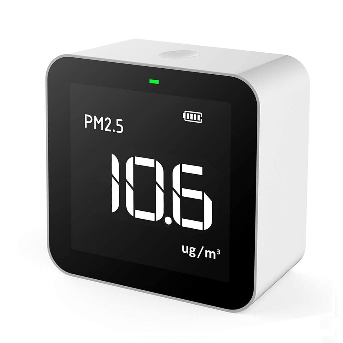 Temtop Monitor de Calidad del Aire Interior de PM2.5 y AQI, para Habitaciones (Dormitorios, Cocinas), Oficinas, Automóviles, Recargable, Tres años de garantía (P10)