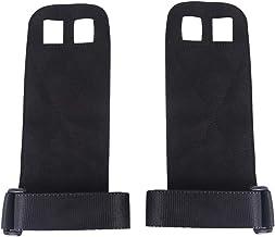Abaodam Een paar lederen fitnesshandschoenen Anti-slip Slijtvast Verzorging Palm Apparatuur Polsband Grip Riem Polsonderst...