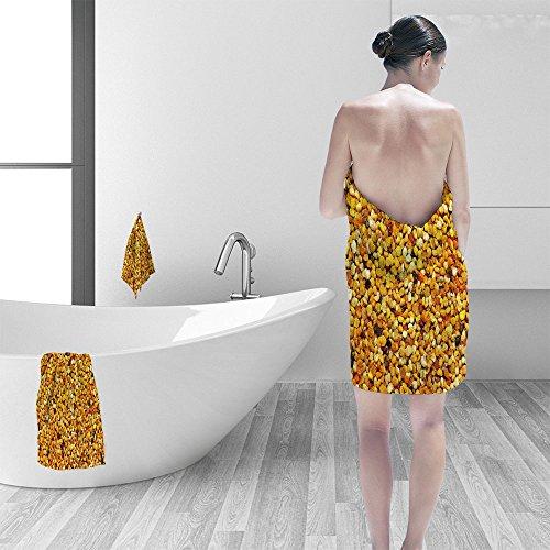 Nalahomeqq Bath towel set Big bunch of bee pollen granules texture 3D Digital Printing No Chemical OdorEco-Friendly Non Toxic13.8 x 13.8-11.8