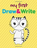 My first draw and write journal: cute cat blank top half of page for illustrations and lined bottom half of page for writing - creative writing notebook, storybook, short story